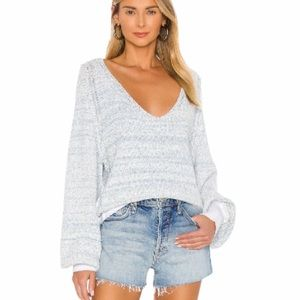 NWT Free People Riptide v neck distressed sweater